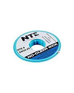 "NTE SW02-25 No-Clean Wick Desoldering Braid #4 Blue 0.098"" x 25 ft."