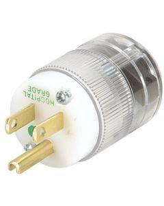 Marinco 8215T Hospital Grade NEMA 15A 125V Plug CLEAR