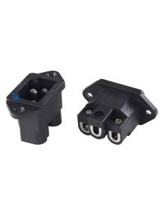 Furutech FI-06 NCF Inlet Chassis or Panel Mount with Pure Copper Conductors and Rhodium Plating