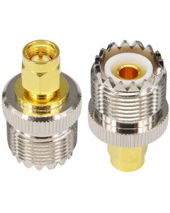 SO239 PL259 Female Socket to SMA Male Antenna Adapter Converter