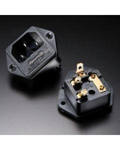 Furutech FI-03 Rhodium IEC Inlet w/Fuse Holder