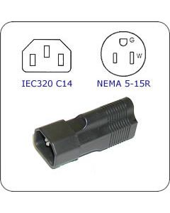 C14 to 15R Adapter 125V 15A Burn-In Adapter