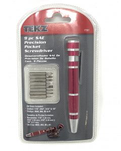 TEKZ Pocket Screwdriver 9 Piece SAE